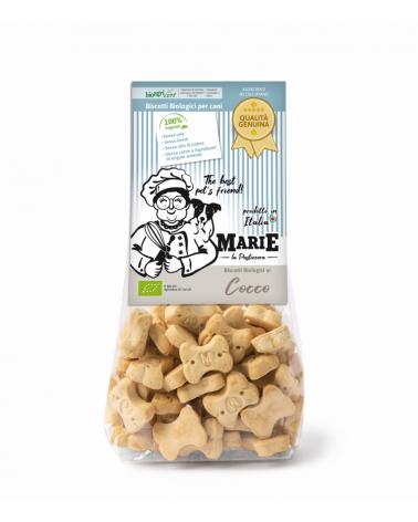 Marie La Pasticcera Biscotti Biologici per Cani con Cocco Bio - 210 g