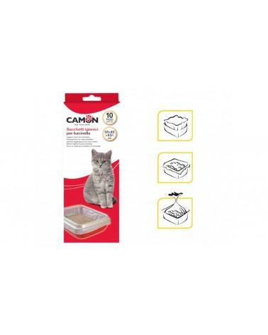 Camon Sacchetti Igienici per Lettiera Maxi - Sacchetti per Vaschetta Grandi - Confezione da 10 pz