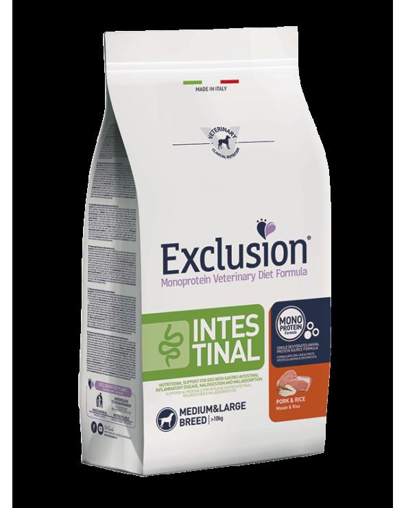 Exclusion Dog Diet Formula Intestinal con Maiale e Riso Medium & Maxi 2 kg