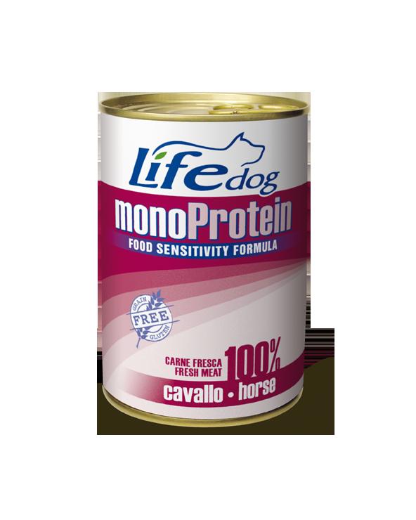 Life Dog Patè Monoproteico per Cani con Cavallo 400 g
