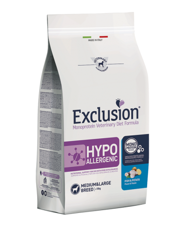 Exclusion Diet Hypoallergenic Pesce e Patate 12 kg