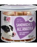 Flair Pet Snack Naturali Mini Sandwiches Anatra e Merluzzo Barattolino 70 g
