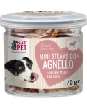 Flair Pet Snack Naturali Mini Steaks Manzo e Merluzzo Barattolino 70 g