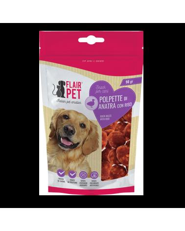 Flair Pet Snack Naturali Polpette di Anatra con Riso Busta 90 g