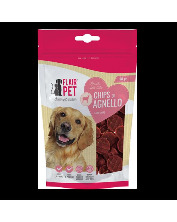 Flair Pet Snack Naturali Chips di Agnello e Pollo Busta 90 g