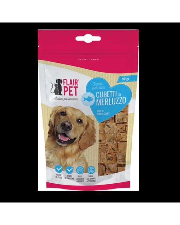 Flair Pet Snack Naturali Cubetti di Merluzzo Busta 90 g