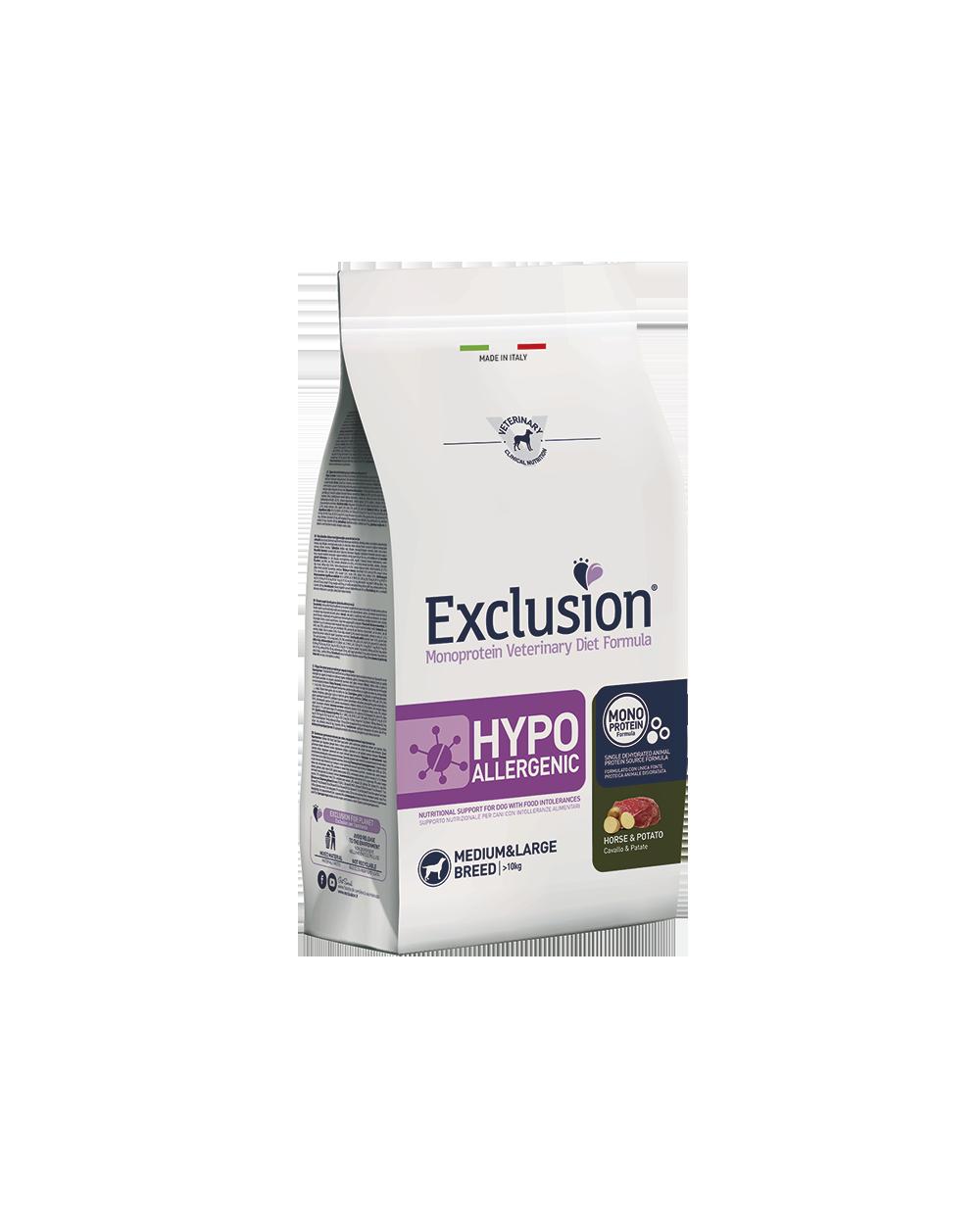 Exclusion hypoallergenic cavallo e patate