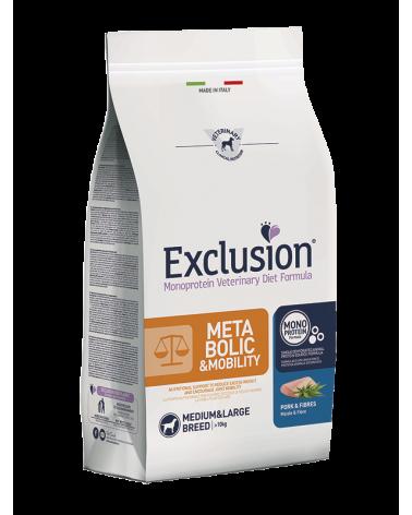 Exclusion Metabolic e Mobility Diet Monoproteico Maiale e Fibre Adult Medium e Large 2 kg