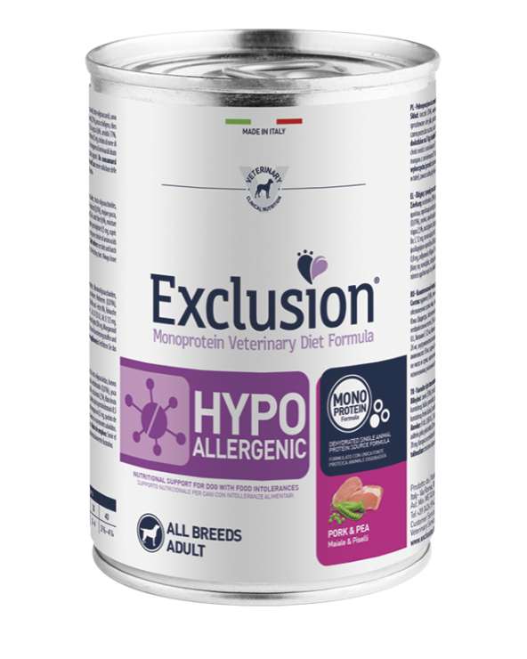 Exclusion Diet Hypoallergenic Maiale e Piselli Umido