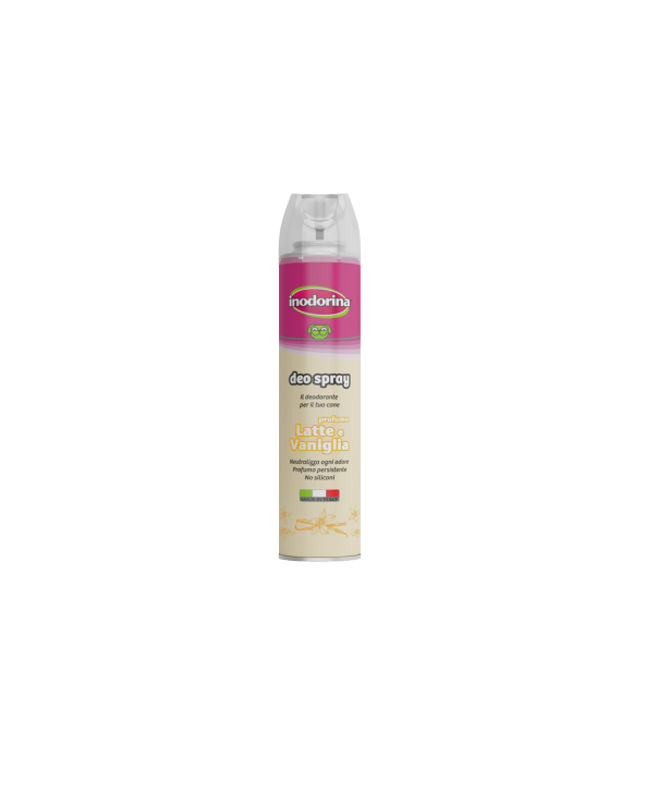 Inodorina Deo Spray Deodorante per Cani Profumo Latte e Vaniglia 300 ml