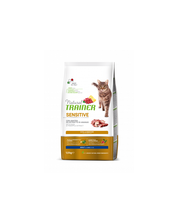 Natural Trainer Cat ( ex Solution ) Sensitive Con Anatra 1.5 kg