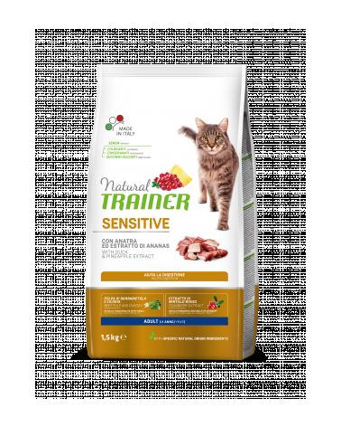 Natural Trainer Cat ( ex Solution ) Sensitive Con Anatra e Piselli 300 g