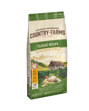 Country Farms Classic Recipe Adult con Pollo Polpa di Mele e Salvia 12 Kg