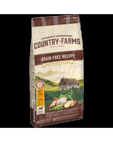 Country Farms Grain Free Recipe Adult con Pollo Manioca Polpa di Mele e Salvia 11 Kg