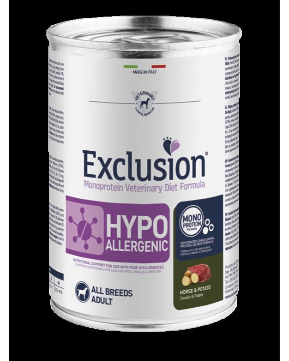 Exclusion Cane Diet Hypoallergenic Cavallo e Patate Patè 400 g