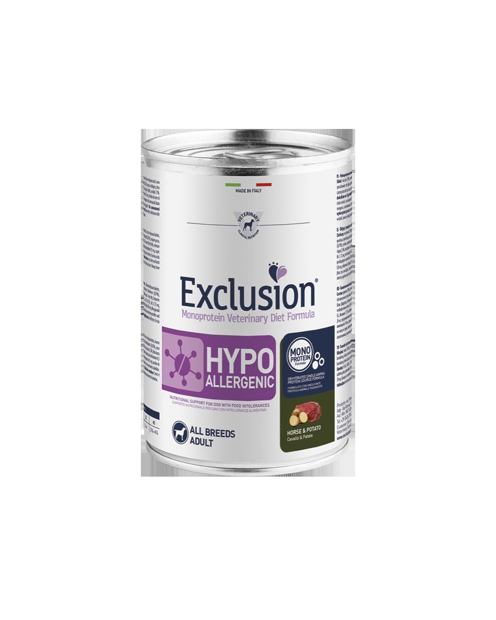 Exclusion Diet Hypoallergenic Cavallo e Patate Umido