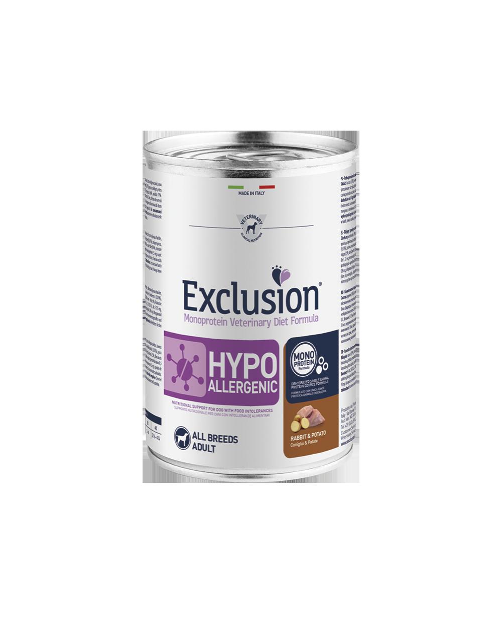 Exclusion Diet Hypoallergenic Coniglio e Patate Umido