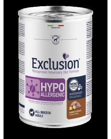 Exclusion Cane Diet Hypoallergenic Coniglio e Patate Patè 400 g