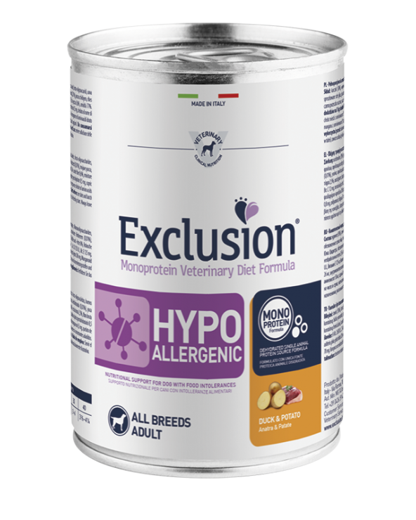 Exclusion Cane Diet Hypoallergenic Anatra e Patate Patè 400 g