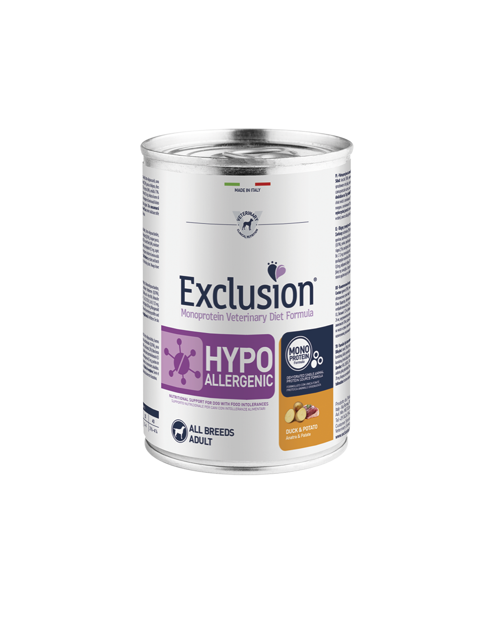 Exclusion Diet Hypoallergenic Anatra e Patate Umido