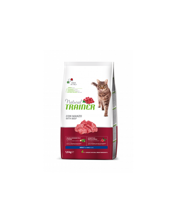 Natural Trainer Cat Adult con Manzo 1.5 kg