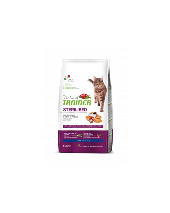 Natural Trainer Gatto Adult Sterilized Salmone 1.5 kg