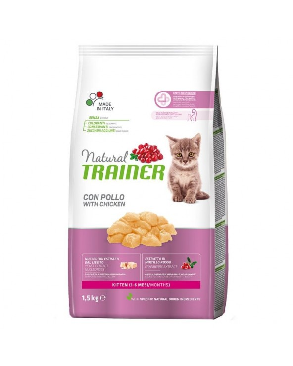 Natural Trainer Gatto Kitten con Pollo Fresco 300 g
