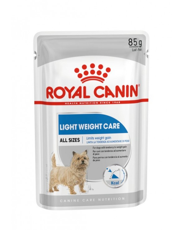 Royal Canin Dog Light Weight Care Adult All Breeds Bustine Loaf in Salsa 85 g