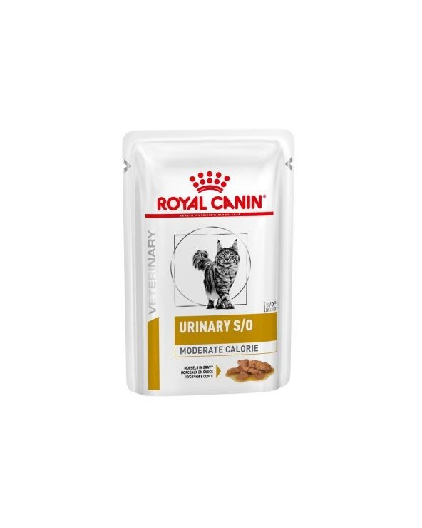 Royal Canin Feline Veterinary Diet Urinary S/O Moderate Calorie Morsels in Gravy Bocconcini in Salsa 85 g