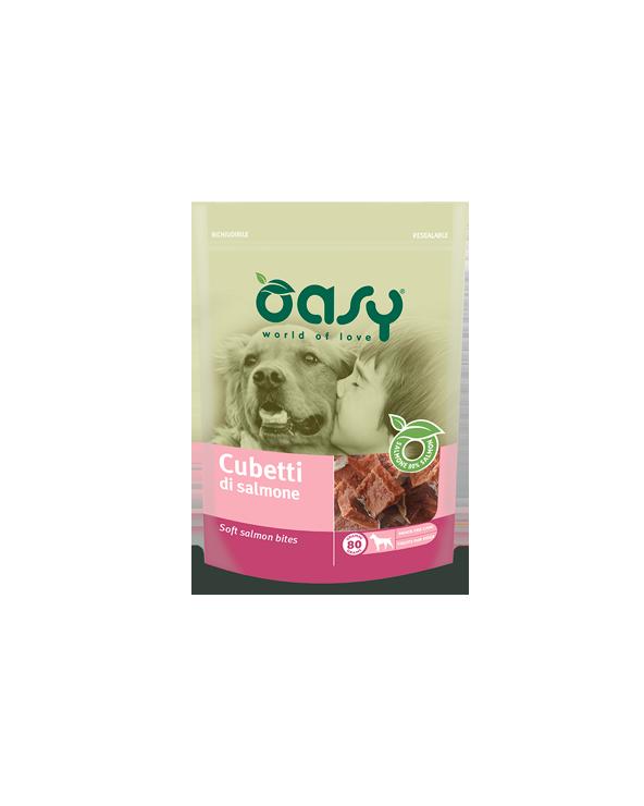Oasy Dog Snack per Cani Cubetti di Salmone 80 g