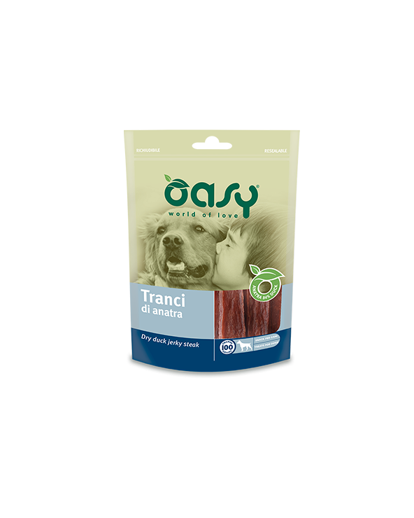 Oasy Dog Snack per Cani Tranci di Anatra 100 g