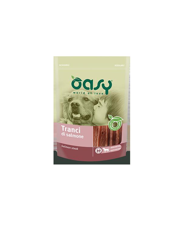 Oasy Dog Snack per Cani Trancio di Salmone 80 g