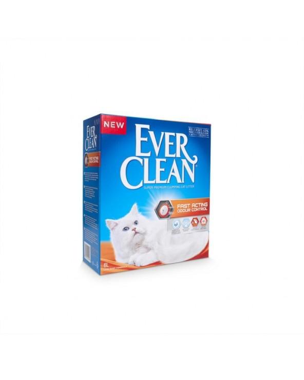 Ever Clean Fast Acting Odour Control Lettiera Agglomerante per Gatti 6 Lt