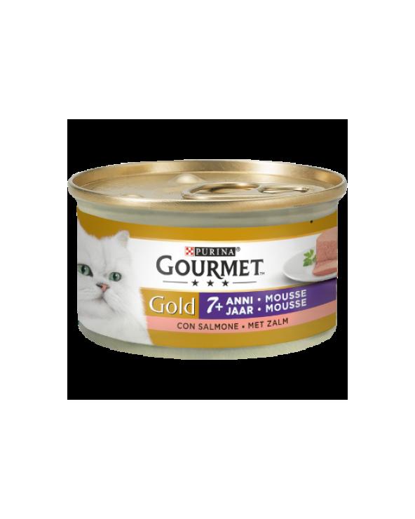 Gourmet Gold Mousse Senior 7+ con Salmone