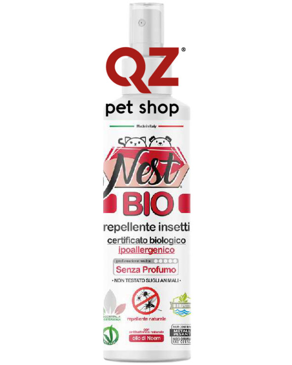 Nest BIO Repellente Insetti Biologico Ipoallergenico con Olio di Neem 120 ml