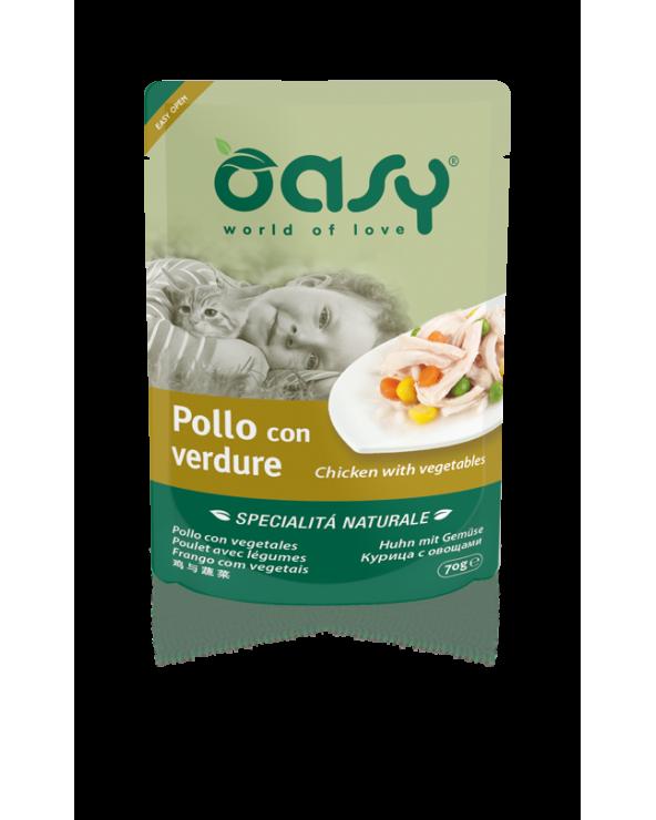 Oasy Cat Specialità Naturali Pollo con Verdure Busta 70 g