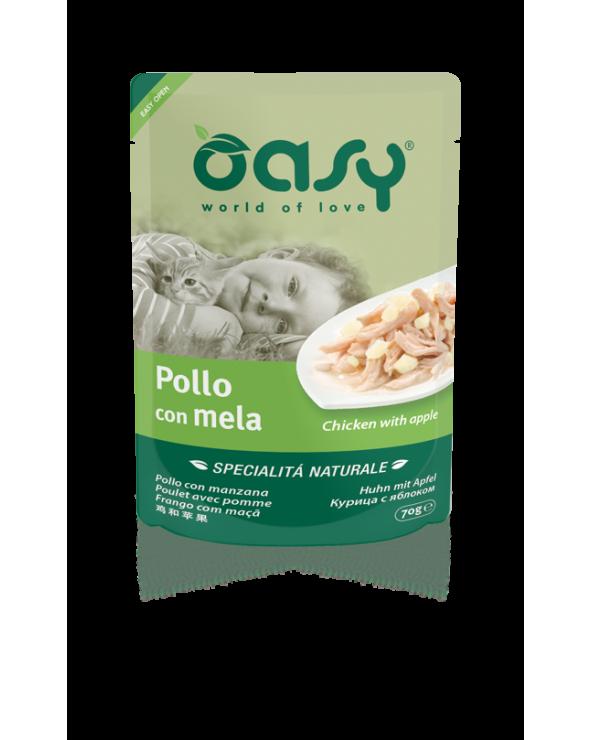 Oasy Cat Specialità Naturali Pollo con Mela Busta 70 g