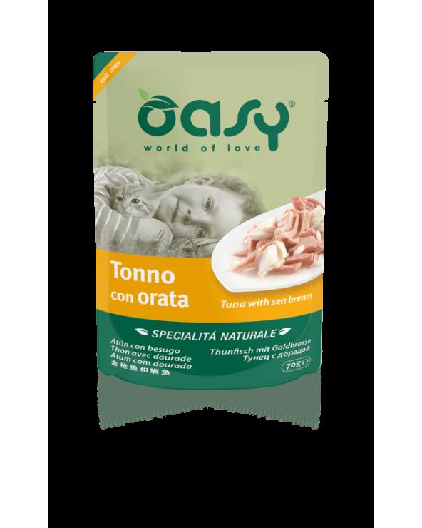 Oasy Cat Specialità Naturali Tonno con Salmone 70 g