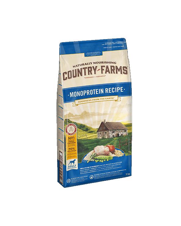 Country Farms Monoprotein Recipe Adult con Pollo Polpa di Mele e Salvia 2,5 kg