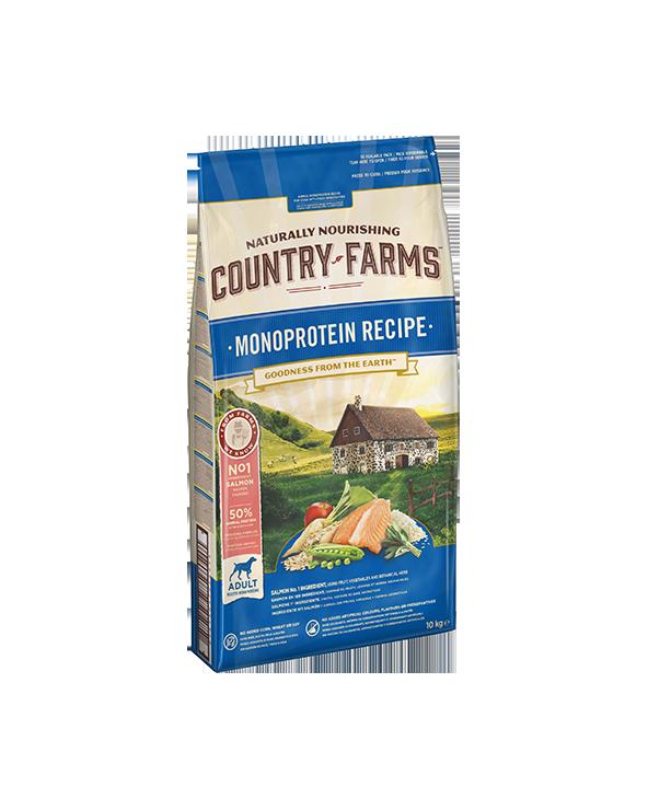 Country Farm Monoprotein Recipe Adult con Salmone Polpa di Mele e Salvia 10 kg