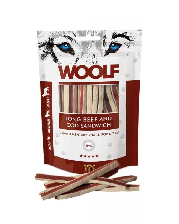 Woolf Snack Sandiwich Lungo di Manzo e Merluzzo 100 g