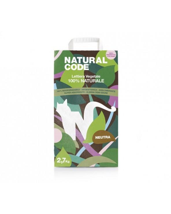 Natural Code Lettiera Agglomerante Vegetale NON Profumata 7 Lt