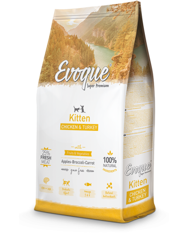 Evoque Cat Kitten con Pollo Mela Broccoli e Carote 300 g
