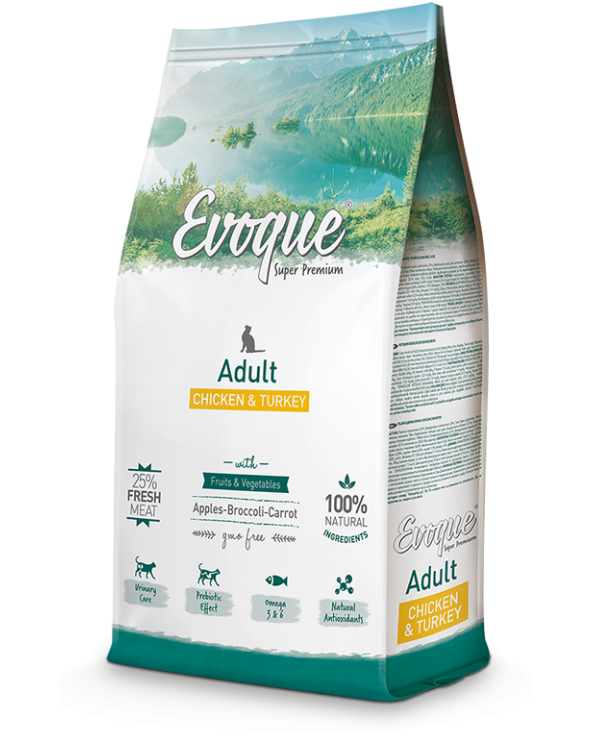 Evoque Cat Adult con Pollo Mela Broccoli e Carote 300 g