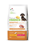 Natural Trainer Sensitive NO Gluten (Ex Fitness 3) Puppy e Junior Mini Anatra e Cereali Integrali 2 Kg