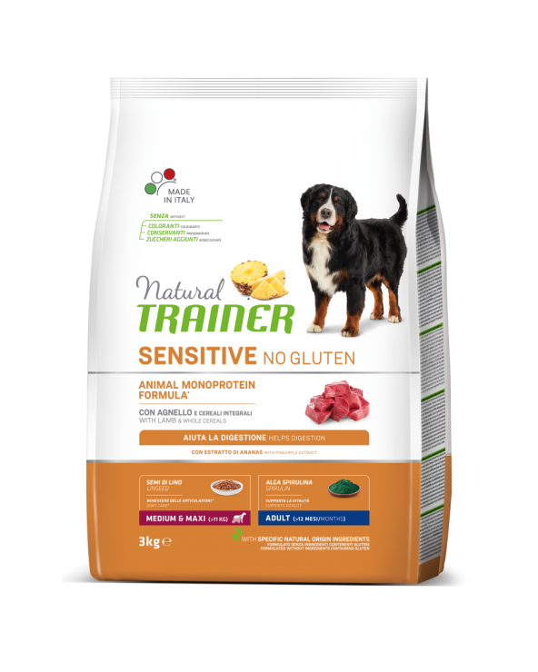 Trainer Fitness 3 Adult Medium & Maxi con Agnello, Riso e Olio