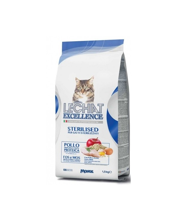 LeChat Excellence Adult Sterilised con Pollo Riso e Mela 1.5 kg