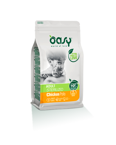 Oasy Cat Adult Sterilized con Pollo 7.5kg