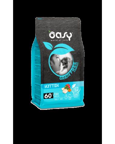 Oasy Cat Grain Free Kitten con Pesce 300 g