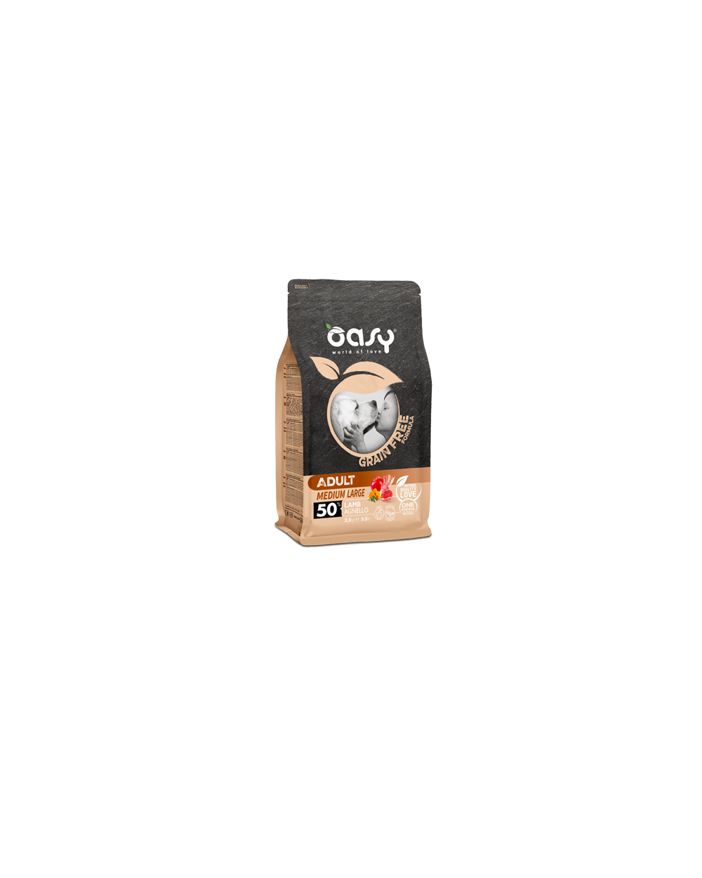 Oasy Dog Grain Free Adult Medium e Large Agnello 12 kg